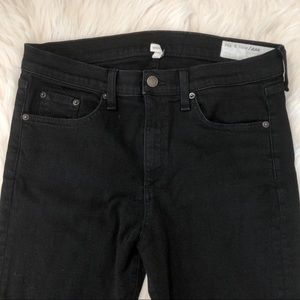 rag & bone Jeans - Rag & Bone Black Crop Flare Jeans
